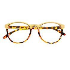 c5cbeccc13d  womens  mens  fashion  metal  top  bar  clear  lens  eyeglasses  frames   wayfarer  retro  vintage  tortoise  gold