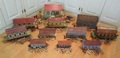 11 Diff Late 1800's Folk Art Noah's Arks & Animals As Collection German Antique