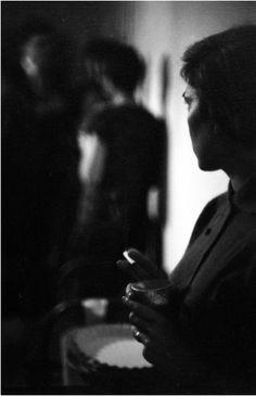 """"""" Saul Leiter Barbara Smoking, New York City c.1955 """""""
