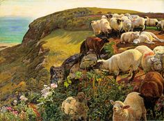"William Holman Hunt: ""Our English Coasts (Strayed Sheep) 1852"