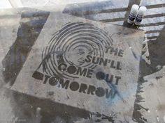 Rust-Oleum NeverWet Sidewalk Art That Can Only Be Seen When It Rains