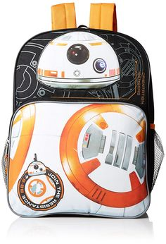 c37472b81858 Amazon.com  Star Wars Boys  Disney Star Wars Bb-8 Multi Compartment 16