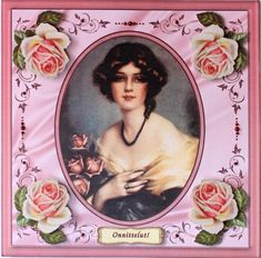 Gallery - Here's a sample card I made from my design. The color of the card is too pink. It seems my camera changes . Vintage Roses, Handmade Cards, Vintage Ladies, My Design, Card Making, Layers, Delicate, Base, Touch