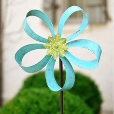 Turquoise Flower Spinner Yard Stake | Kirklands