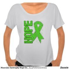 Muscular Dystrophy Hope Grunge Ribbon T Shirt by www.giftsforawareness.com #musculardystrophy #diseaseawareness #hope