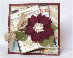 Journal It - Calendar Basics, Document It - Days and Dates, Poinsettia Die-namics - Lisa Henke