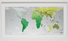 Future Map: an equal-area projection to represent countries in their correct proportional size.  Also?  Graphically appealing.