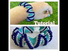 How to make Zigzag peyote bracelet (TUTORIAL) - YouTube