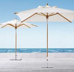 Outdoor umbrellas copy cat chic and umbrellas on pinterest for Restoration hardware outdoor umbrellas