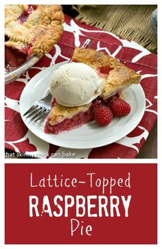 Lattice Topped Raspberry Pie | Both beautiful and utterly delicious! @lizzydo