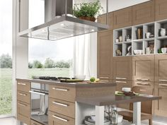 WALNUT KITCHEN WITH HANDLES GALLERY COLLECTION BY CUCINE LUBE ...