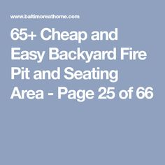 65+ Cheap and Easy Backyard Fire Pit and Seating Area - Page 25 of 66