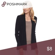 Simple Black Cardigan This cardigan is perfect for fall weather! Light enough to layer underneath a jacket and to wear on its own. Open front, no buttons. Approximately waist length. ❌no trades ❌ Sweaters Cardigans