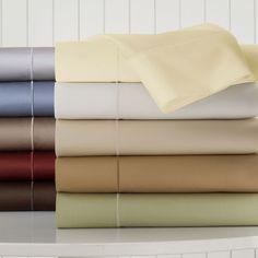 ROYAL VELVET Royal Velvet 400tc WrinkleGuard Sheet Set. made of 400 thread-count, 100% cotton sateen for maximum softness