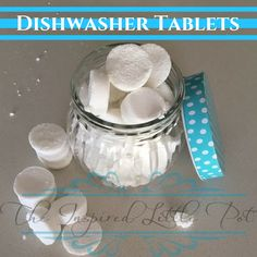 Make your own dishwasher tablets with my super easy recipe, so you can reduce your families exposure to chemicals AND save money! Homemade Cleaning Products, Natural Cleaning Products, Eco Products, Household Products, Natural Products, Dishwasher Tablets, Dishwasher Detergent, Doterra Recipes, Chemical Free Cleaning
