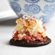 Bite Sized Open Faced Reuben Sandwiches w/ Homemade Russian Dressing @Carrie