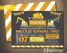 Hey, I found this really awesome Etsy listing at https://www.etsy.com/listing/248893949/construction-birthday-invitation