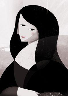 Mona Lisa by Antonio Blanco Mona Lisa Drawing, Mona Lisa Parody, Famous Pictures, Classic Artwork, Famous Artwork, Photo Illustration, Oeuvre D'art, Female Art, Les Oeuvres