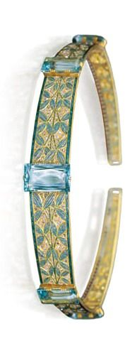 Gold, aquamarine and diamond diadem by Georges Fouquet, France, early 20th century