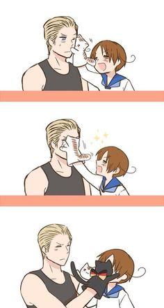 Hetalia- Germany and Italy THIS IS SO CUTE I CAN'T EVEN