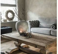 Normandy from Paint & Decor's French Collection on the walls with raw wood will look just as beautiful