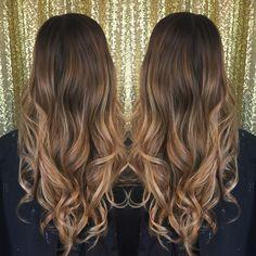 Balayage hair- brunette to blonde