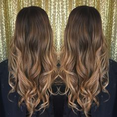 Balayage hair- brunette to blonde