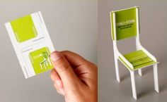 Clever business card from a furniture company