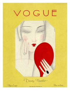 Vogue Cover - November 1925 Poster Print by Eduardo Garcia Benito at the Condé Nast Collection