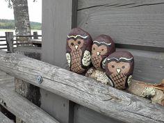 Maalatut kivet, pöllöt