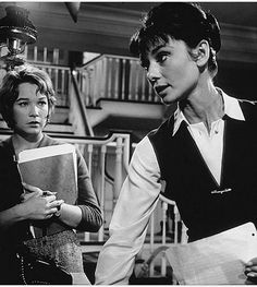 With Shirley MacLaine in THE CHILDREN'S HOUR (1961).