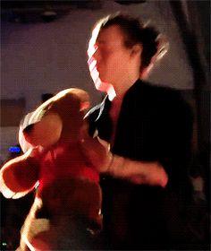 "Harry Styles ❥ Making teddy clap ""x"""