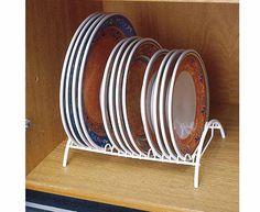 Organizador de pratos - 19 posiçoes - Branco - Cozinha / Organizadores de Armários | Ordenato!