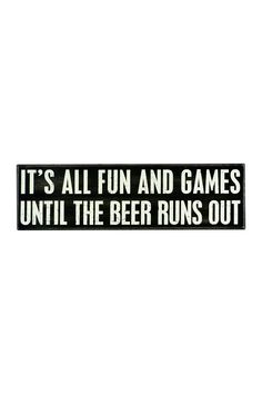 Fun & Games Box Sign on @HauteLook