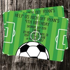Free thank you cards included  Soccer Themed by ElegantlySimpleInc, $12.00