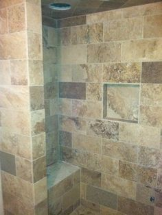 Find This Pin And More On Countertop Backsplash Tub Shower Surround Ideas Natural Stone Tile