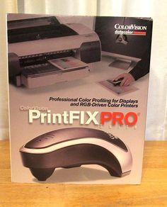ColorVision PrintFIX PRO Suite Win Mac Color profiling RGB Printers Displays #Colorvision #PrintFix #Photography