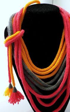 Woman skinny infinity  fashion scarf Handmade by AltaiPrincess, £16.50