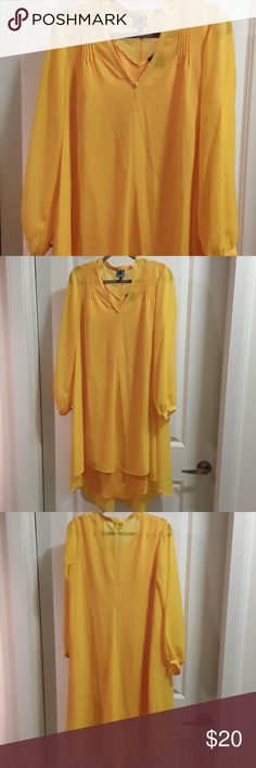 Yellow Sheer Dress Yellow Sheer Dress, worn once great for a night out Dresses High Low