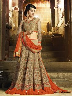 In a #wedding outfit is very important specially in india. Not only bride cloth important but her cousin and friends cloth noticeable.  Red color is a hot favorite in a wedding. These stunning red and cream lahenga choli perfect for #bride and her friends also.  So these wedding season adding glitter of your look buy wearying these stylist lahenga choli.  Buy it online from www.suratdream.com