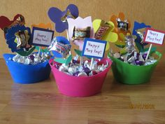 My first set of May Day baskets for this 2012.  Ash and I had fun!