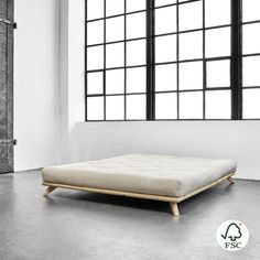 Postel Karup Design Senza Bed Natural, 180 x 200 cm Upholstered Bed Frame, Upholstered Ottoman, Bedroom Bed, Bedroom Decor, Living Room Small, Double Bed With Storage, King Bed Frame, Style Japonais