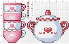 Cross Stitch Cards, Cute Cross Stitch, Cross Stitch Designs, Cross Stitching, Cross Stitch Embroidery, Cross Stitch Patterns, Cross Stitch Kitchen, Perler Bead Art, Perler Beads