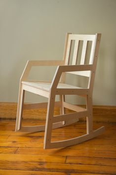 Modern Rocking Chair - Baltic Birch Plywood Rocker