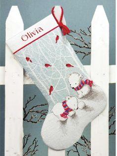 Snow Bears Christmas Stocking - Cross Stitch Kit