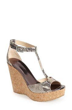 Jimmy Choo 'Pela' Leather Wedge Sandal (Women) | Nordstrom