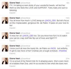 Diane Neal twitter #cote de pablo
