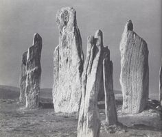 The Callanish stones, Isle of Lewis, Western Isles of Scotland. Scanned from Burl and Piper 'Rings of Stone' (1979).