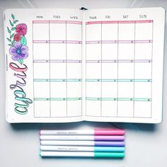 How to Start & Use a Bullet Journal - Plus Examples to get you started - Monthly Spread