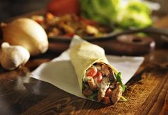 Wrap de frango com cream cheese